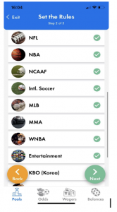 Betting Category in Wager Lab