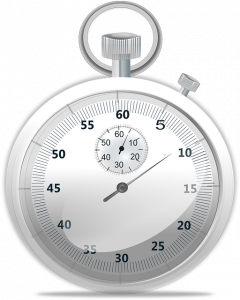 Stopwatch to time the bets